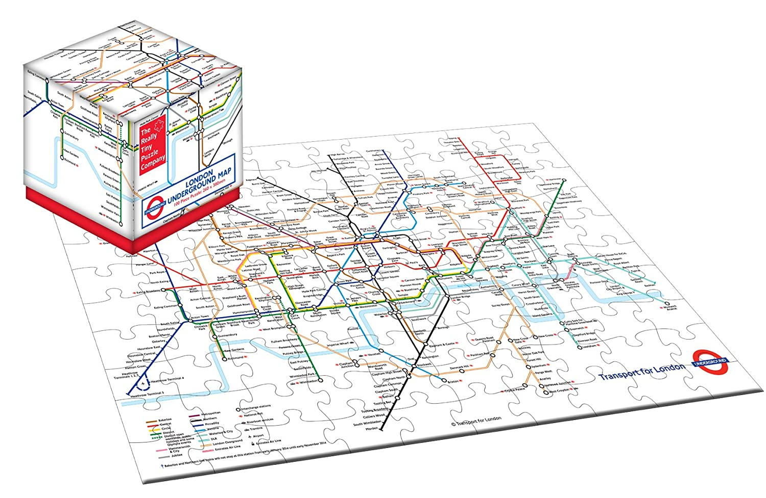 Robert Frederick London Underground Cube puzzle, colori assortiti, pezzi RFS11355