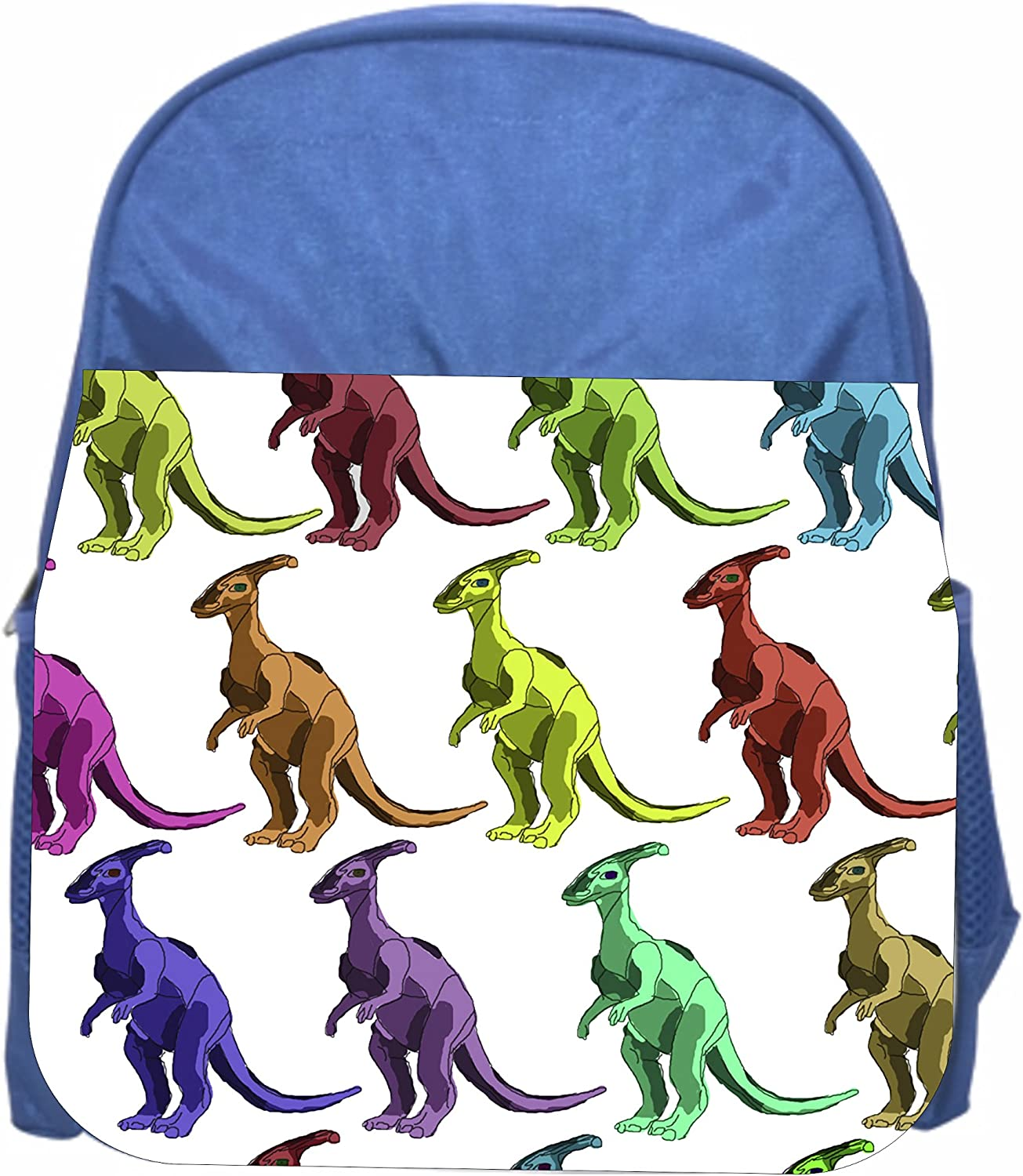 Dinosaurs Pattern Blue Girls//Boys Preschool Toddler Backpack /& Lunch Box Set