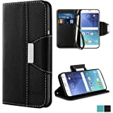 Galaxy J5 2016 Case - Vakoo [Book Style] Premium-PU Leather Wallet Folio Mobile Phone Protector Cover Flip Case for Samsung Galaxy J5 (2016) / J5 Duos / J510 (Black)