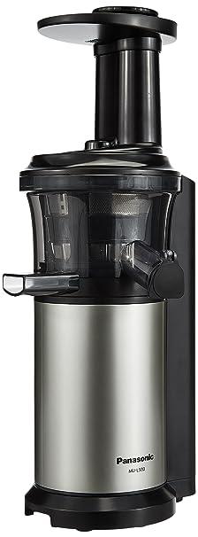 Panasonic MJ-L500 150-Watt Cold Press Slow Juicer (Silver) Centrifugal Juicers at amazon