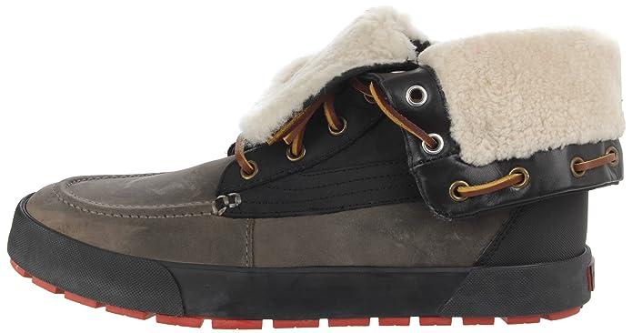 Amazon.com | Polo Ralph Lauren Mens Declan, Black/Grey, 7.5 D US | Snow Boots