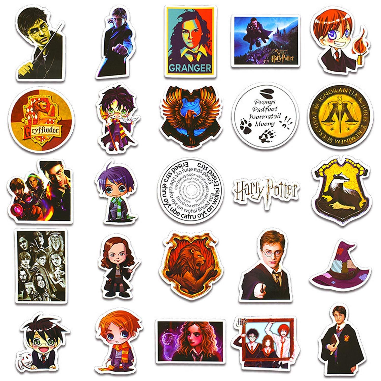 Patinetas Impermeable Pegatinas de Viaje Sanmatic Pegatinas Exclusivas para ni/ños Port/átiles 50 Piezas Harry Potter del Paquete de Pegatinas Potter Adolescentes Guitarra