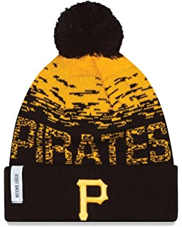 27cd9b2965b Amazon.com   Pittsburgh Pirates Striped Cuffed Pom Knit Beanie Cap ...