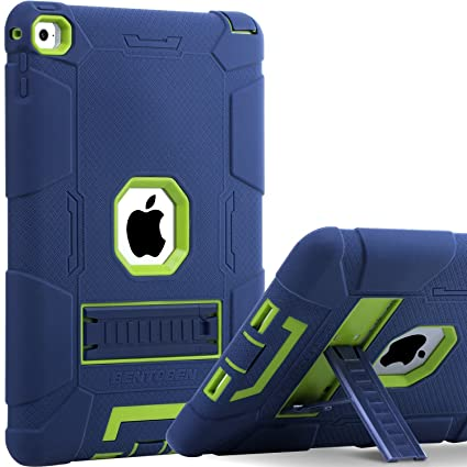 sale retailer 62627 0dcb0 iPad Air 2 Case, BENTOBEN [Hybrid Shockproof Case] with Kickstand Rugged  Triple-Layer Shock Resistant Drop Proof Case Cover for iPad Air 2 with  Retina ...