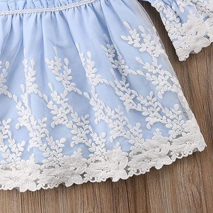 Baby Girl 3 Pezzi Set Abito da Battesimo Pizzo Bianco Abito a Trapezio Tulle Ricamo Piccolo Set di Abiti da Battesimo Bonnet Cardigan Maniche Lunghe