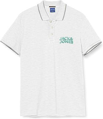 Jack & Jones Jorvenicebeach Organic Polo SS Camisa, Melange Blanco, M para Hombre: Amazon.es: Ropa y accesorios