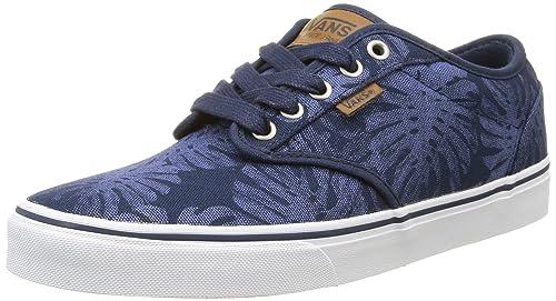 15f04dd0d6a46b Vans Atwood Deluxe - Scarpe da Ginnastica Basse Uomo, Blu (palm Leaf/blue
