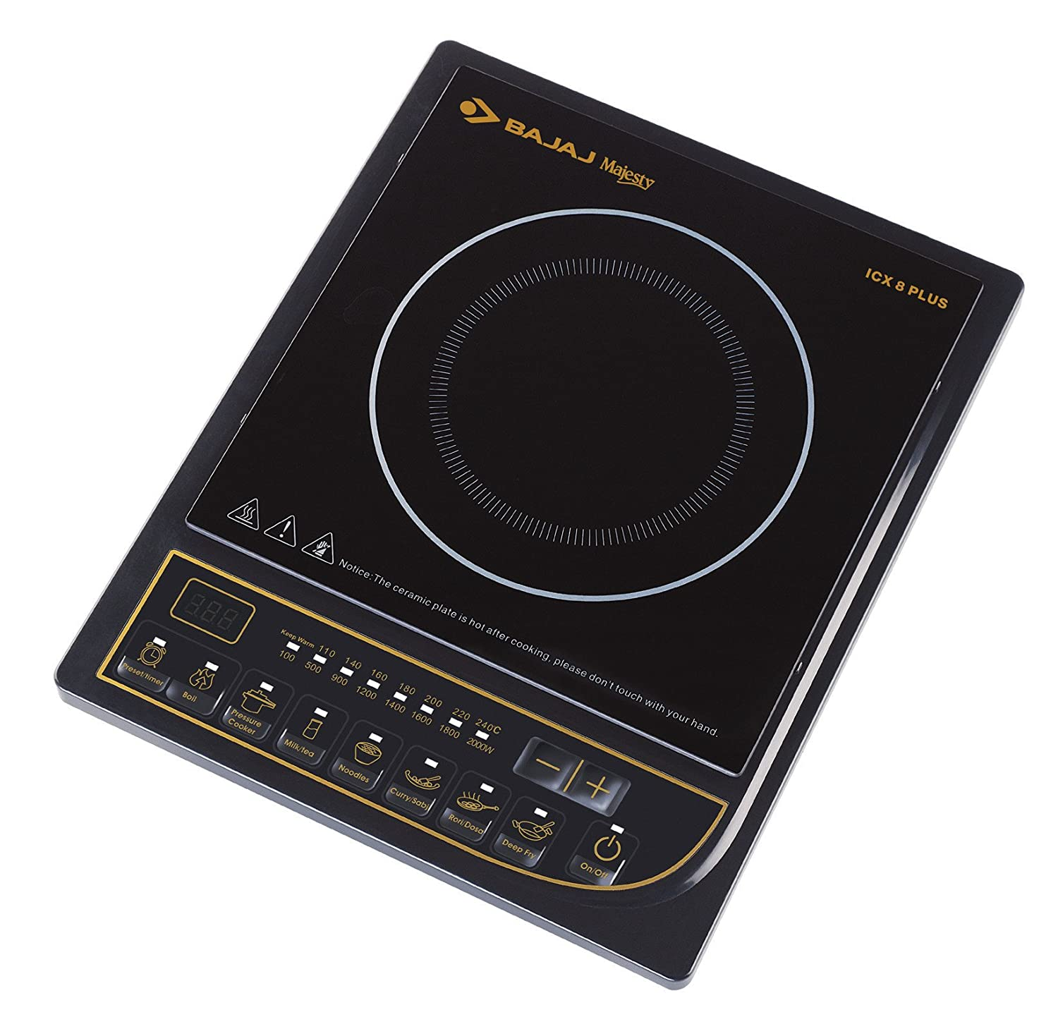 Buy Bajaj Majesty ICX 8 Plus 2000-Watt Induction Cooktop Online at Low  Prices in India - Amazon.in