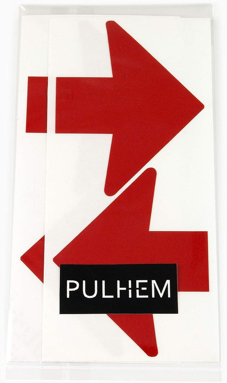 76 mm x 60 mm Pfeile aus Reflexfolie rot PULHEM reflektierende Reflex-Aufkleber 4 Stk