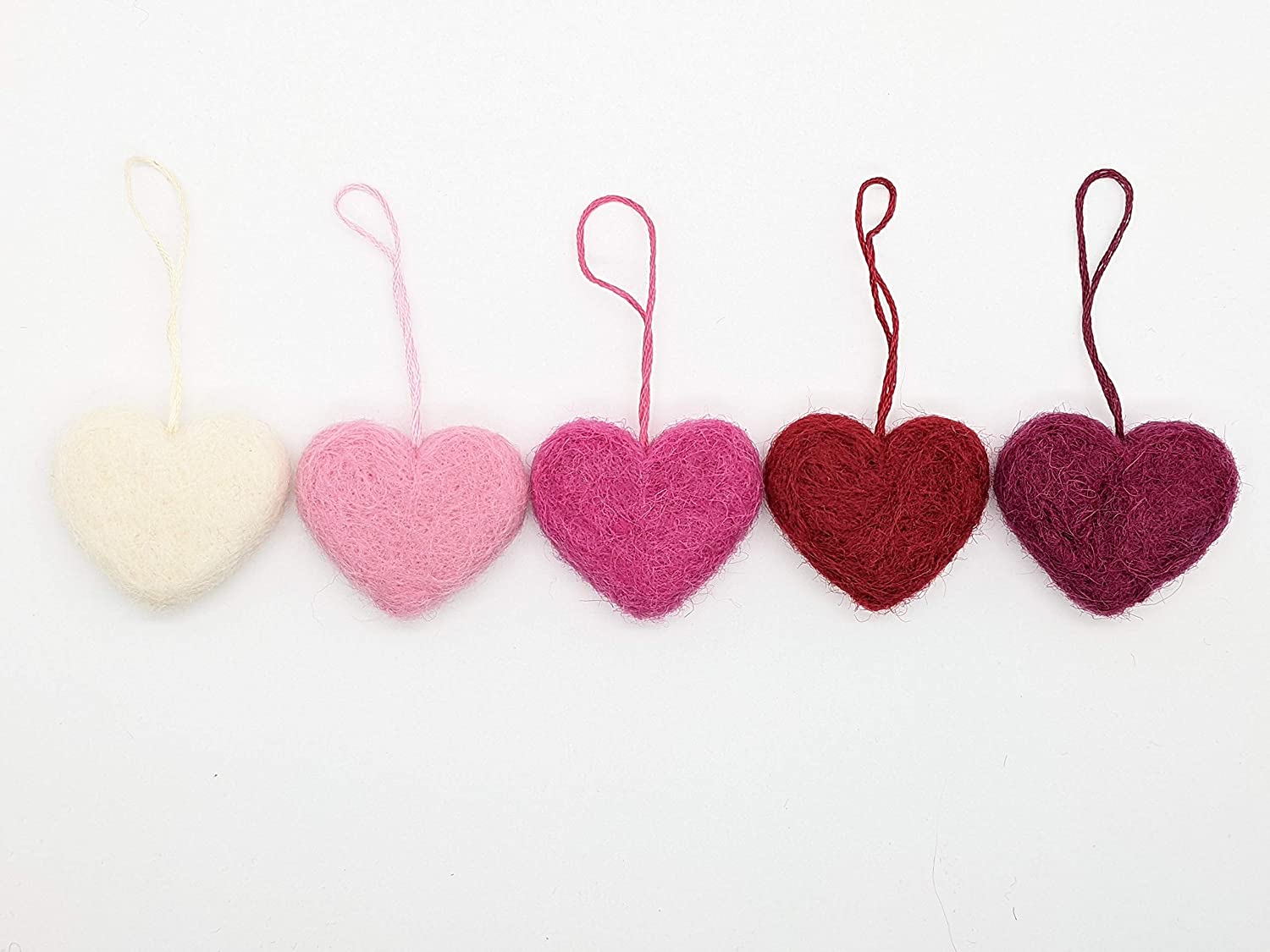 Hanging Felted Hearts-made to order