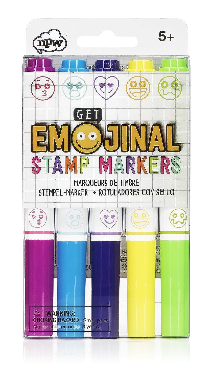 /Set di 5/timbri di pennarelli Get Emojinal NPW Emoticon Timbro marcatori/