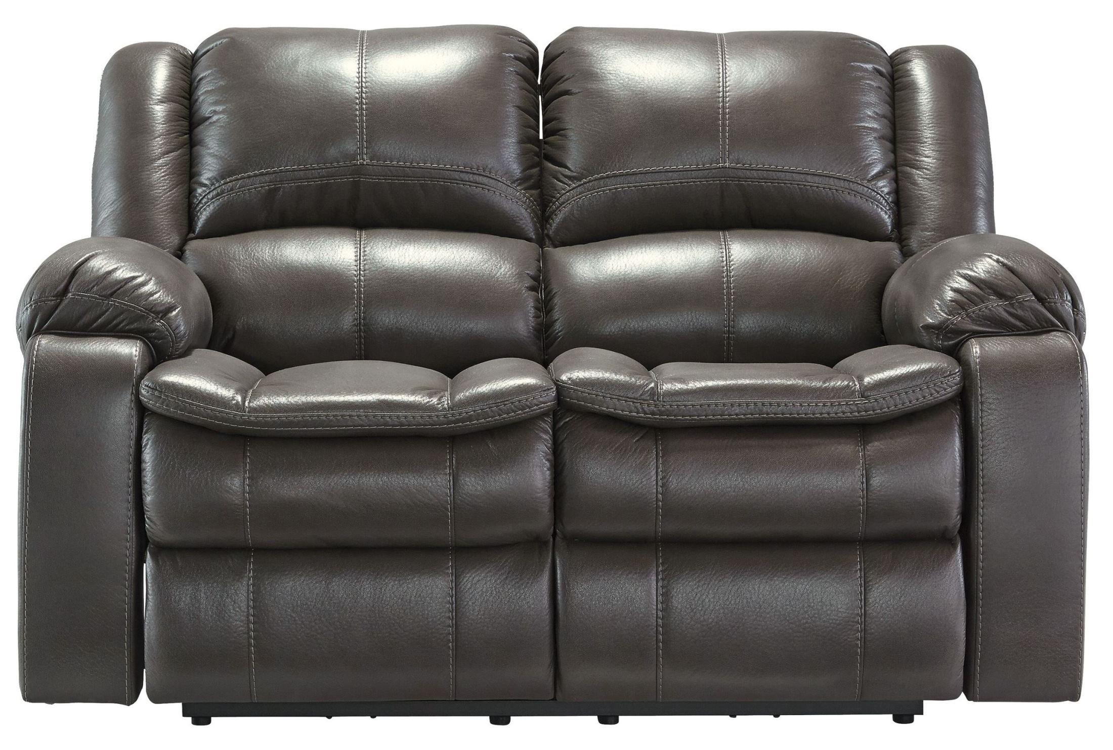 Ashley Furniture Signature Design - Long Knight Loveseat - Manual Recliner - Gray