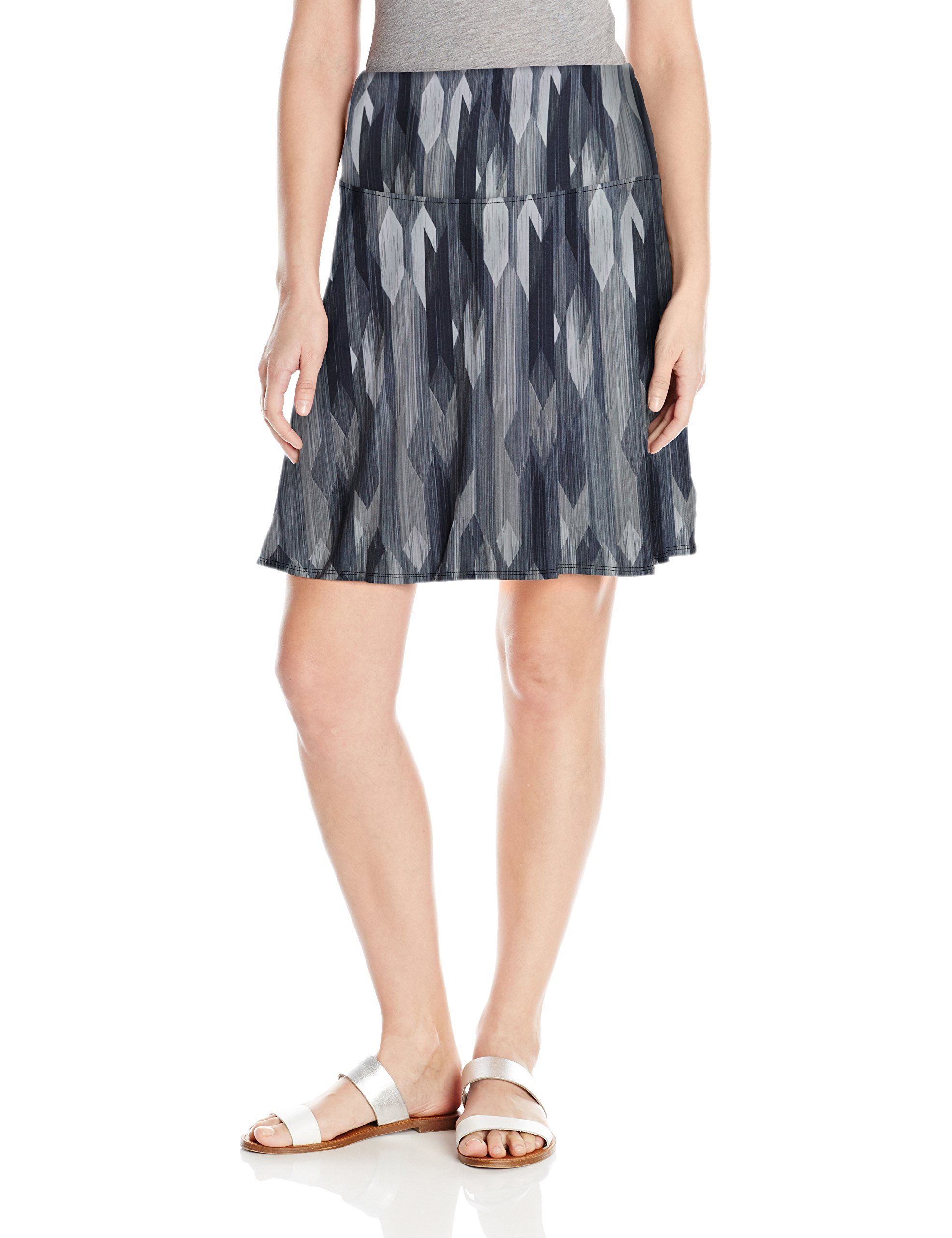 prAna Women's Taj Printed Skirt, Charcoal Gemstone, Small