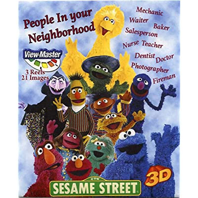 Sesame People in Your Neighborhood - Classic ViewMaster - 3 reels with 21 3D Images - Elmo, Big Bird, Cookie Moster: Toys & Games