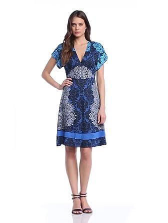 Desigual Damen Kleid VEST_SENSACIÓN, Gr. 36/S (Herstellergröße: 38), Blau (Royal)