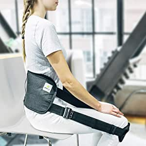 BetterBack® Correct Back Posture While Sitting (Seen On Shark Tank, Doctor Recommended for Back Pain – Makes Every Chair Ergonomic – Lumbar Support, Adjustable Straps, Memory Foam Cushion)