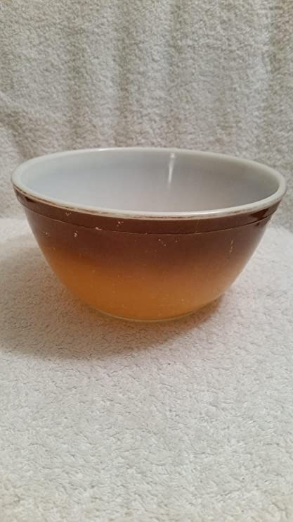 Amazon.com : Vintage Pyrex Old Orchard Brown Fade 1.5 Qt Mixing Bowl ...