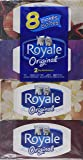 Royale Facial Tissue - Soft and Strong 2-ply - 100 Sheets Per Box - 8 Count - Variety of Box Designs