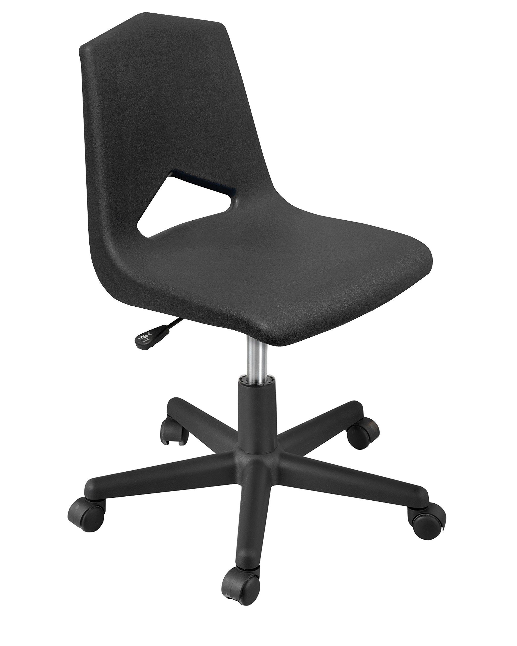Marco Group MG1182-20BK-ABK Mg Series Adjustable Task Chair, 16''-20'', Black/Black, 2''