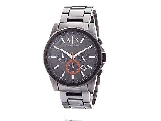 Amazon.com: Armani Exchange Mens Analog-Quartz Watch with Stainless-Steel Strap, Grey, 22 (Model: AX2514: Watches