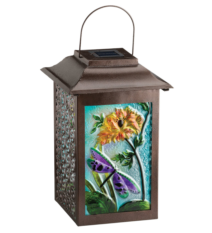 Regal Arts SS-Rag-11470 16.5 Inch Solar Garden Dragonfly Lantern