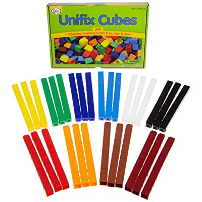 Unifix Cubes - Package of 300 - 10 Colors: Toy Interlocking Building Bricks: Industrial & Scientific