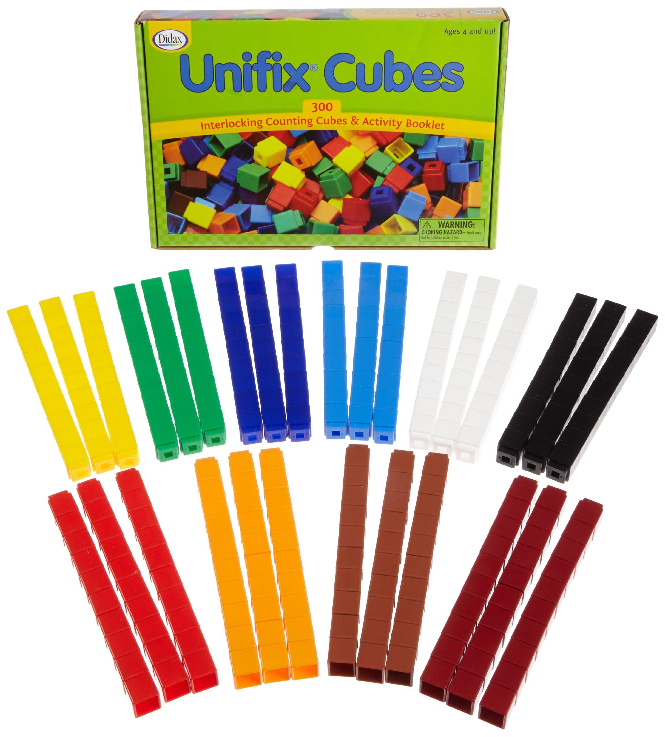 Unifix Cubes - Package of 300 - 10 Colors by Unifix