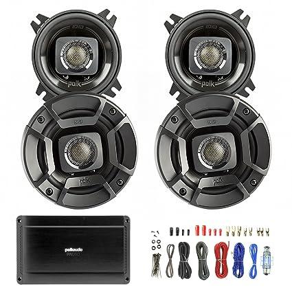 amazon com 4x polk audio db402 4 inch 135w coaxial speakers black best way to hook up subwoofer 4x polk audio db402 4 inch 135w coaxial speakers black, polk audio pa660 digital