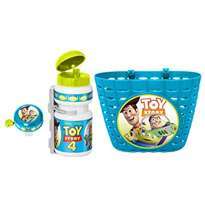 Stamp Unisex Youth Basket + Drinking Bottle + Bell Toy Story 4, Green/Blue : Sports & Outdoors