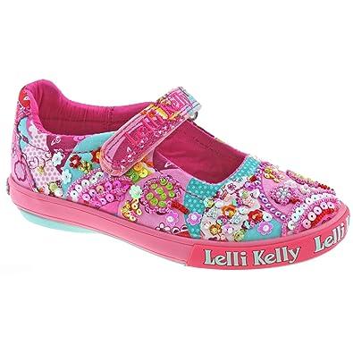 6831711d Lelli Kelly Ladies LK5056 Patchwork Bar Shoes In Fuschia, Fuschia Pink, 12  UK Child