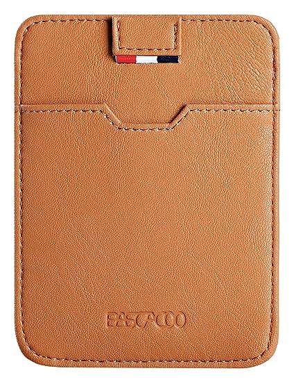 511195e1686e Slim Wallets for Women Men RFID Small Mini Wallet Leather Credit Card  Holder Case Front Pocket