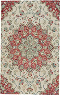 "product image for Capel Shakta-Palani Lt. Sand Floral 3' 6"" x 5' 6"" Rectangle Hand Tufted Rug"
