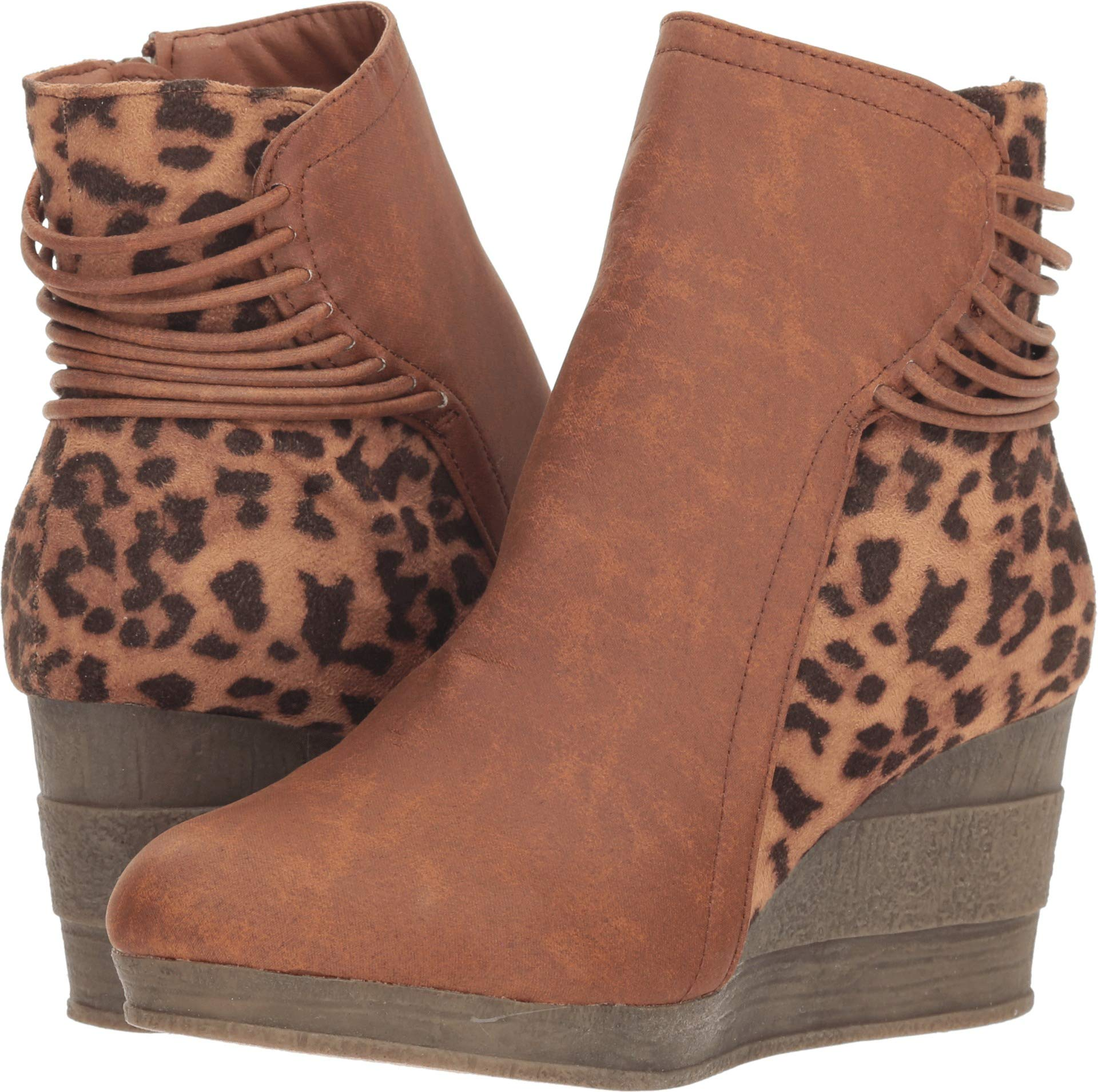 Sbicca Women's Alexandria Tan/Leopard 8.5 M US M by Sbicca (Image #1)