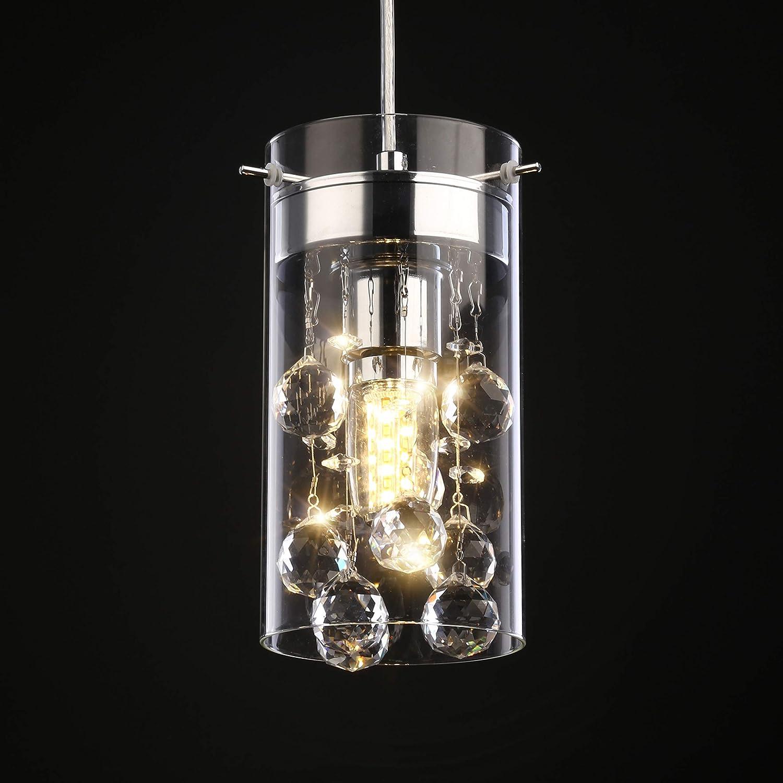 Wtape 3 Light Glass u0026 Crystal Chandelier Pendant