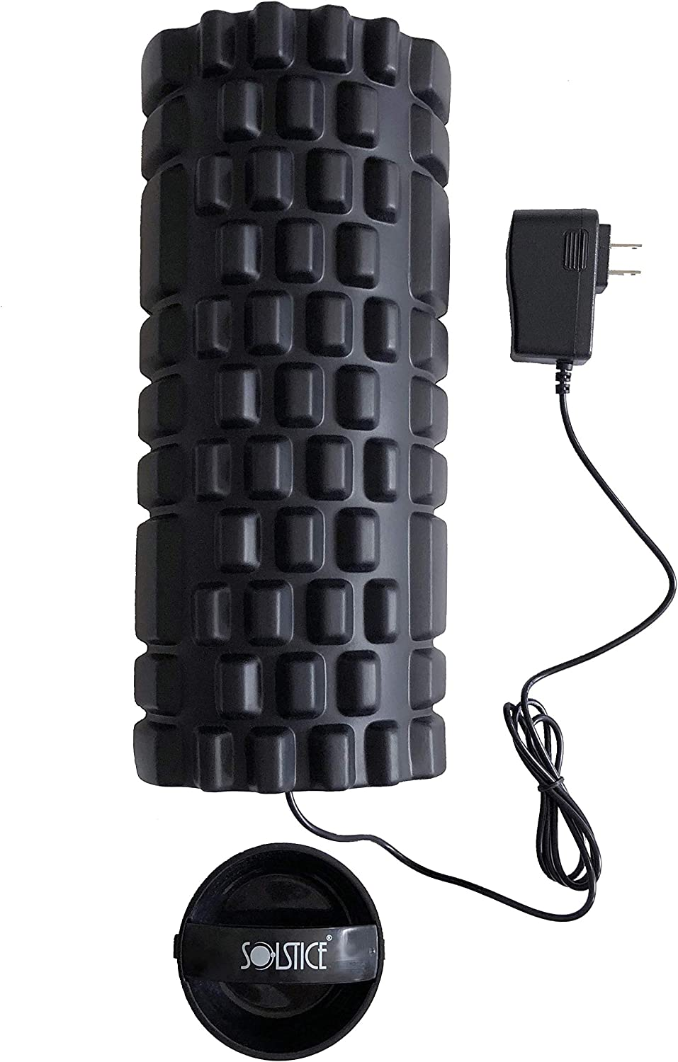 Solstice Co. Vibrating Foam Roller for Muscle Recovery, Physical Therapy Exercise – 3 Speed Rechargeable High Density – Perfect for Deep Tissue and Myofacial Release
