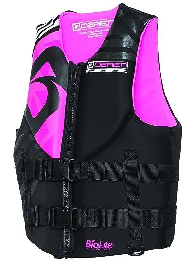 Pink and black life jacket