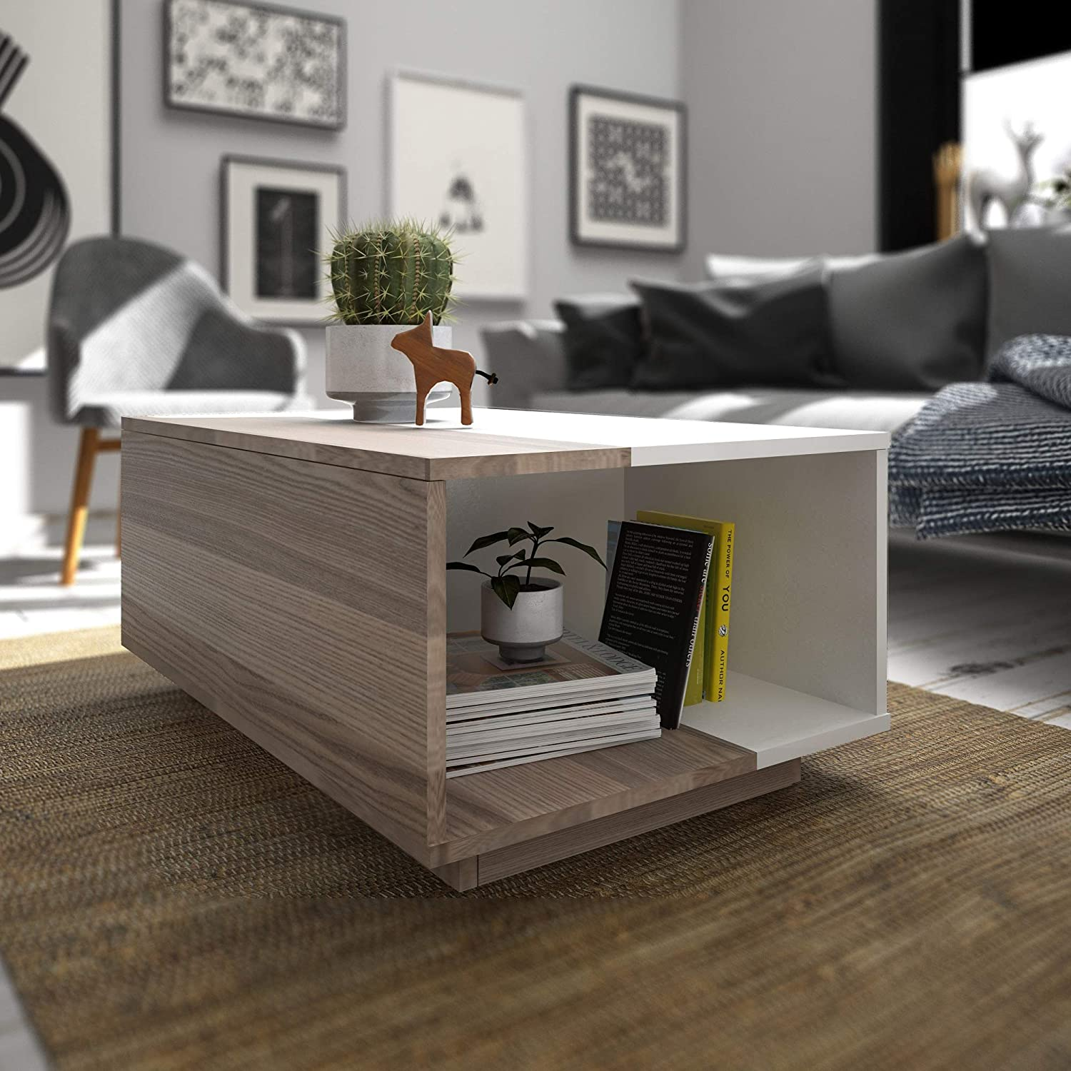 Decorotika – Surprise Modern Coffee and Cocktail Table – Living Room Furniture