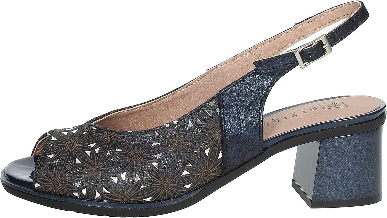 Sandalia Piel tacón 6 cm