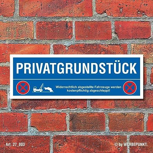 Cartel Privado Grund pieza Cartel de prohibido aparcar Park ...