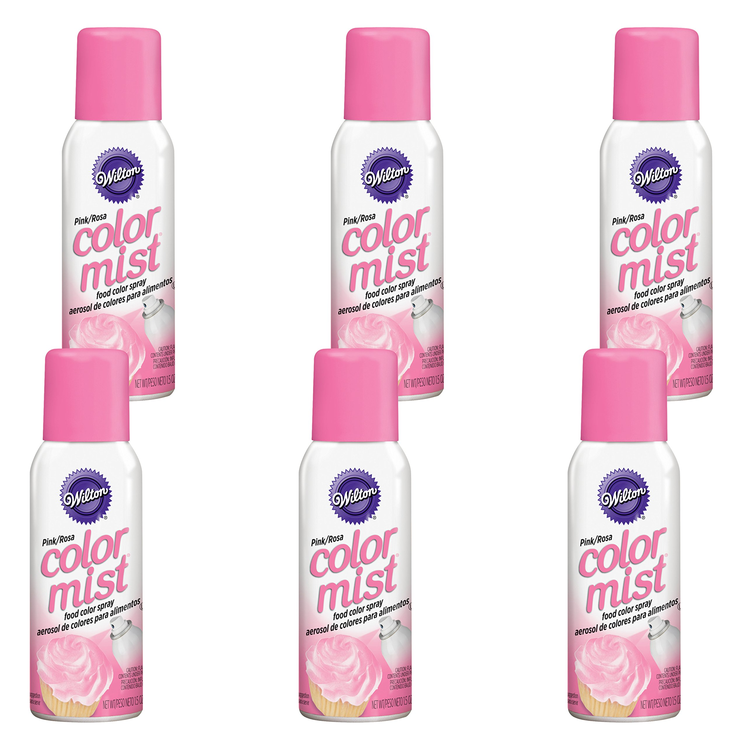 Wilton Pink Color Mist Food Color Spray, Multipack of 6 by Wilton (Image #1)