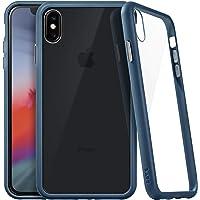 Capa Protetora Accents Fundo em Vidro e Borda Azul Marinho Iphone XS MAX, Laut, Capa Protetora para Celular, Azul Marinho