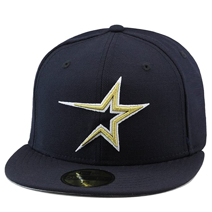935f9341 New Era Houston Astros 1999 Home Fitted Hat Cap Navy/Gold