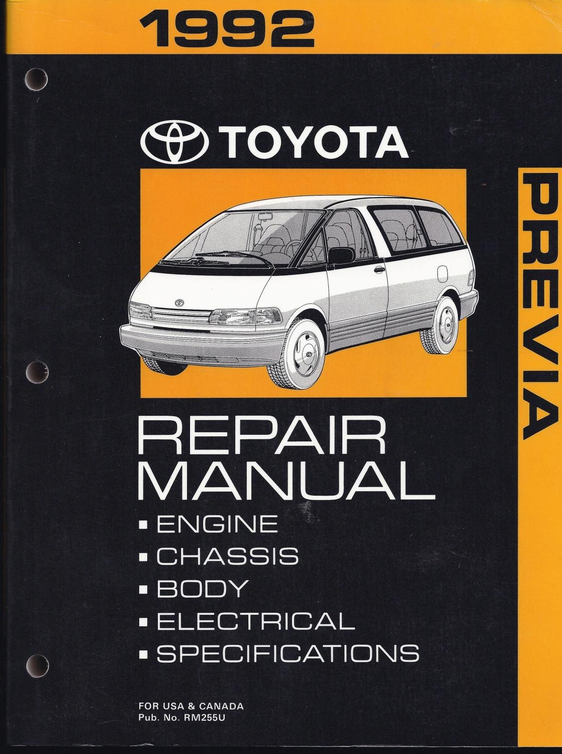 1992 Toyota Previa Repair Manual: Toyota Motor Corporation: Amazon.com:  Books