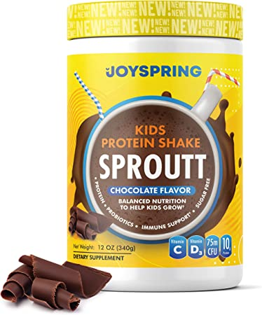 Kids Protein Shake - Kids Multivitamin and Probiotic - Best Tasting Kids Probiotic Powder with Vitamins - Chocolate Protein Shakes for Kids - Kids Protein Drinks with Natural Sweeteners
