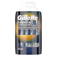 Gillette Fusion5 ProGlide Razor Blades for Men with FlexBall Technology That Responds to Contours, 10 Refills