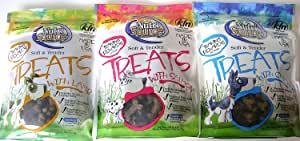 Nutri Source Soft & Tender Natural Formula With Added Vitamins & Minerals Dog Treat 3 Flavor Variety Bundle: (1) Nutrisource Lamb Dog Treats, (1) Nutrisource Salmon Dog Treats, and (1) Nutrisource Chicken Dog Treats, 6 Oz. Ea. (3 Bags Total)