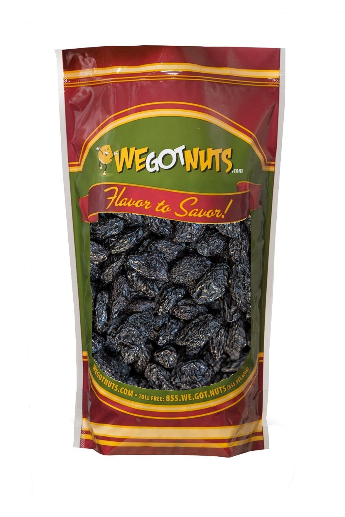 We Got Nuts Pitted Dried Prunes, Dried Plum (3 Pound)
