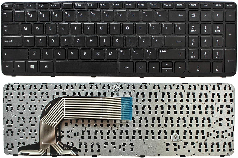 Zahara Laptop US Keyboard W/Frame Replacement for HP Pavilion 17-e040us 17-e046us 17-e048ca 17-e010us 17-e020us 17-e040us 17-e113dx 17-e113nr 17-e114nr 17-e193nr 17-e197nr 17-e198nr