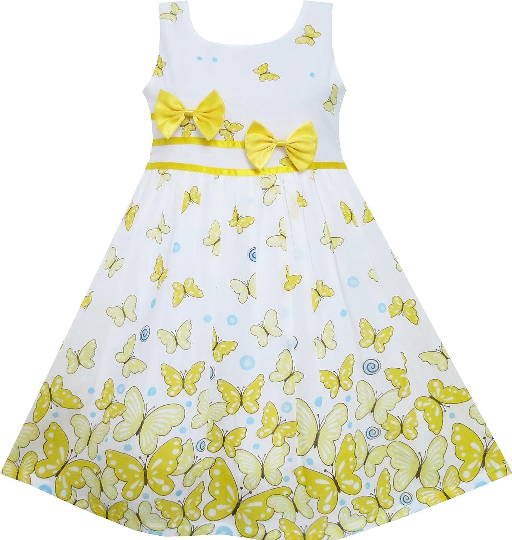 Sunny Fashion Vestido con Estampado Floral para Niña Morado: Amazon.es: Ropa y accesorios