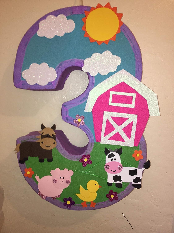 amazon com farm number pinata, farm birthday party, barn pinatafarm number pinata, farm birthday party, barn pinata, farm birthday decorations, farm party decorations, farm party theme, farm party supplies, barn